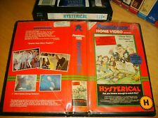 Vhs *HYSTERICAL* 1983 ULTRA RARE OBSCURE - Roadshow 1st Issue Cult Horror Spoof!