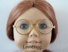 """Gold Wire Frame Eye glasses for 18"""" American Girl  Doll Accessories Specialist!"""