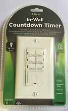 NEW Prime Wire & Cable TNDIW012 In-Wall 12 Hour Countdown Digital Timer