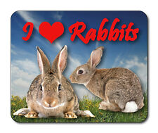 Rabbit Mouse Mat - I Love Rabbits