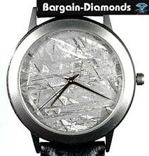 Meteorite Watch Unique Metal Crystals Dial titanium case leather band warranty