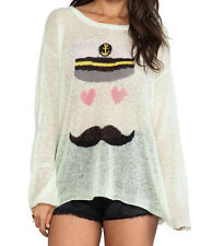 Wildfox White Label  Sailor Print Mint Green Color Sweater Size XS