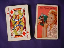 1961 Coca Cola Bowling Bowler Girl Playing Cards