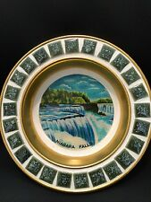 Vintage  Niagara Falls Tin with Ceramic Tiles ashtray dish