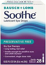 2 Pack - Bausch & Lomb Soothe Preservative Free Lubricant Eye Drops 28 Each