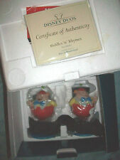 RARE HTF WDCC Tweedle Dee and Tweedle Dum MIB