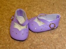 """Doll Shoes, 54mm LT PURPLE Girl Dressy Mary Janes - 13"""" Patsy, P91 Toni, others"""