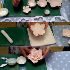 4x Peony Flower Petal Fondant Mold Sugarcraft Cake Cookies Embosser Cutter Mould
