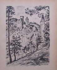 Ragimund Reimesch BURG HARDEGG THAYA - WIEN KARLSKIRCHE 2 Drucke 1943 old prints