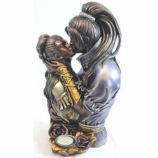 "Vintage Candle Holder Lover Art 12"" High Quality Resin Statue Sculpture Figurine"