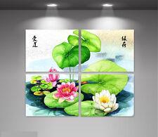 """Set of 4 separate paintings, """"Lotus"""""""