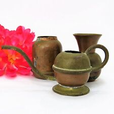 Antique Copper / Brass Mini Vase & Watering Can-Holland & Copper Jug- set of 3