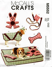 Dog, Pet Coat, Hat, BEd, Toys, Purse, Leash - McCall's Sewing Pattern 5552 OOP