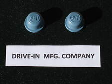 2 RCA Drive In Movie Theatre Speaker KNOBS, Blue, Outdoor Theater, NEW OLD STOCK
