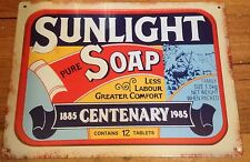 Sunlight Soap Metal Tin Sign Plaque Advertising Bathroom Pears & Lux Also Listed