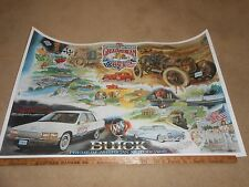 1991 BUICK GREAT AMERICAN RACE BIG 24 x 38 ORIGINAL PROMO POSTER 1992 ROADMASTER