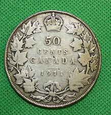 Canada 1911 50 cents silver a nice coin