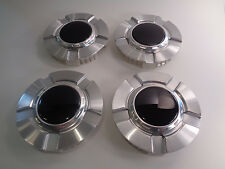 Set (4) Chevy Silverado Z71 Texas Edition Replica Silver Center Hub Caps Blank
