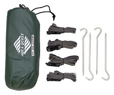 Aqua Quest Guide 2 x 3 m Sil Tarp + Pegs & Straps Kit - 10 x 7 ft Green
