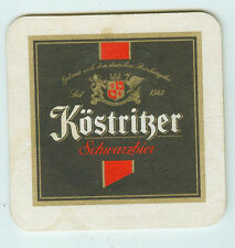 Used Beer Coasters Köstritzer Dark Beer 3 11/16x3 11/16in