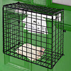Letterbox Cage Door Mounted Mail Box Letter Guard Basket Post Catcher Black