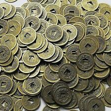 100PCS Feng Shui Chinese Dragon Coins Coin for good Luck PROSPERITY PROTECTION G