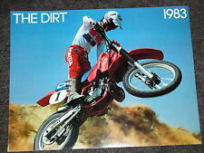 NOS HONDA THE DIRT 1983 CR FULL RANGE SALES BROCHURE VINTAGE TWINSHOCK ELSINORE