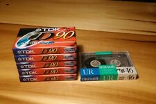 TDK D90 High OutPut Maxell UR Vintage Cassette Tapes NOS Lot of 6 Boombox hiphop