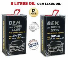FOR LEXUS LS400 LS430 LS460 ENGINE OIL 8 LITRE 5W-30 5W30 API SN CF C2 C3