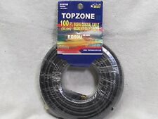 100FT BLACK RG-59 U Coax Coaxial Satellite Dish Cable TV Antenna Wire 75 OHM