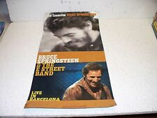 Bruce Springsteen Live In Barcelona DVD Double Sided Promo Poster RARE 12 X 24