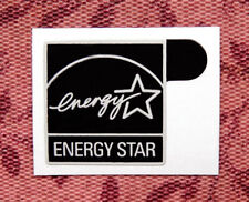100pcs - Energy Star Black Sticker 14.5 x 15.5mm Stickers Label Case Badge Logo