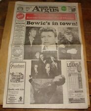 DAVID BOWIE TIN MACHINE NEWPORT CENTRE SOUTH WALES ARGUS NEWSPAPER SPECIAL 1989