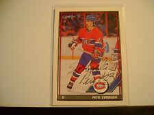 PETR SVOBODA HAND SIGNED AUTO AUTOGRAPH NHL HOCKEY CARD MONTREAL CANADIENS FLYER