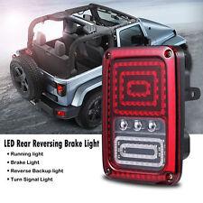 Jeep Wrangler JK Black LED Rear Tail Light Brake Turn Signal Reverse Pair 07-16
