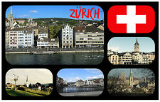 ZURICH, SWITZERLAND - SOUVENIR NOVELTY FRIDGE MAGNET - NEW - GIFT / XMAS