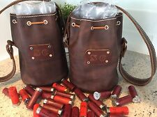 Leather Shotgun Shell Ammo Pouch/Bag Bucket Custom Made