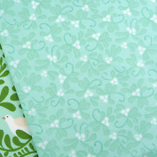 Moda In from the cold mistletoe mint fabric / Christmas stocking quilt duck egg
