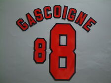 GASCOIGNE NOME+NUMERO UFFICIALE ENGLAND HOME WC FRANCE 1998 OFFICIAL NAMESET