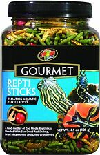ZOO MED GOURMET TURTLE REPTISTICKS FOOD FLOATING STICKS 4.5 OZ FREE SHIP USA
