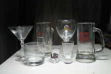 lot vtg Falstaff glass beer mug Leffe Chalice Heineken dragon shot glass Martini