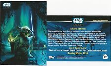 Jerry Vanderstelt SIGNED Star Wars Galaxy Topps Trading Art Card CELEBRATION V