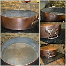 GAILLARD Magnificent RARE french copper HUGE pan 4mm good tin cuivre 30lb