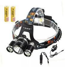 8000LM 3x XML T6+2 R5 LED Head Headlight Headlamp Torch Bright Dark UK SELLR NEW