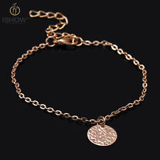 Luxury Simple Charm Gold Flake Pendant Chain Link Bracelet Jewelry For Women