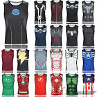 Marvel Comics Men's Casual Super Hero Costume Cycling Jersey Tank Top Tee Shirts