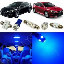 6x Blue LED Lights Interior Package Conversion Kit for Lancer Evo X #ML3B