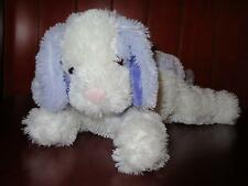"RARE 12"" Animal Alley Purple White Puppy Dog Stuffed Plush Toys R Us Pastel Baby"