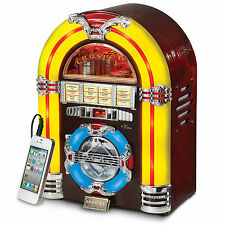 Crosley Mini Jukebox 1947 Reproduction Radio CD Player MP3 Aux-In Wood Cabinet