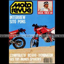 MOTO REVUE N°2926 HONDA 650 DOMINATOR GILERA RC 600 SITO PONS PARIS-DAKAR 1990